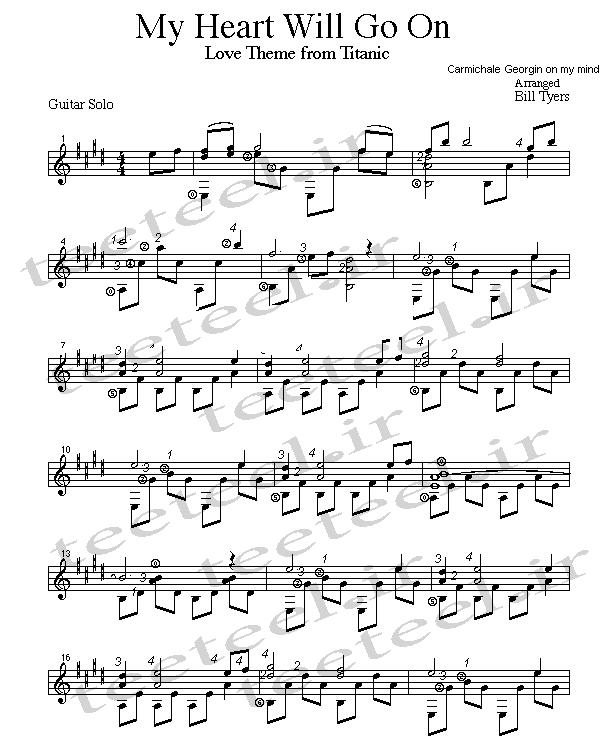 نت آهنگ تایتانیک