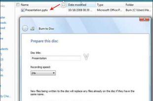 رایت اطلاعات توسط ویندوز روی cd یا dvd