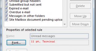 آموزش تغییر رنگ برای ایمیلهای خوانده نشده
