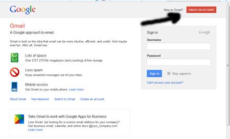 ساخت ایمیل در گوگل