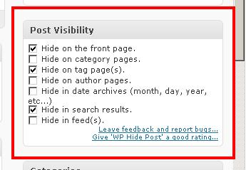 افزونه نشان ندادن مطالب مورد نظر در صفحات خاص ورد پرس