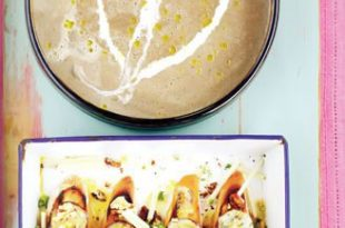 0546831391214102a 310x205 - طرز تهیه ی سوپ قارچ با کروتی سیب