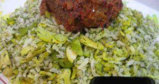201311913195021a 310x165 - طرز تهیه ی سبزی پلو با گوشت