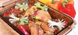 طرز تهیه ی خورش مرغ با انار و سیر
