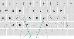 تایپ ده انگشتی فارسی 310x165 - آموزش تایپ ده انگشتی به زبانی ساده