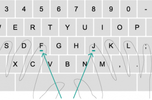 تایپ ده انگشتی فارسی 310x205 - آموزش تایپ ده انگشتی به زبانی ساده