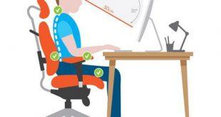 آموزش-تایپ-نشستن-صحیح-پشت-کامپیوتر