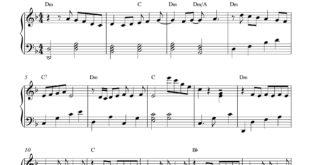 نت پیانوی آهنگ je venux از زاز (zaz) به همراه آکورد