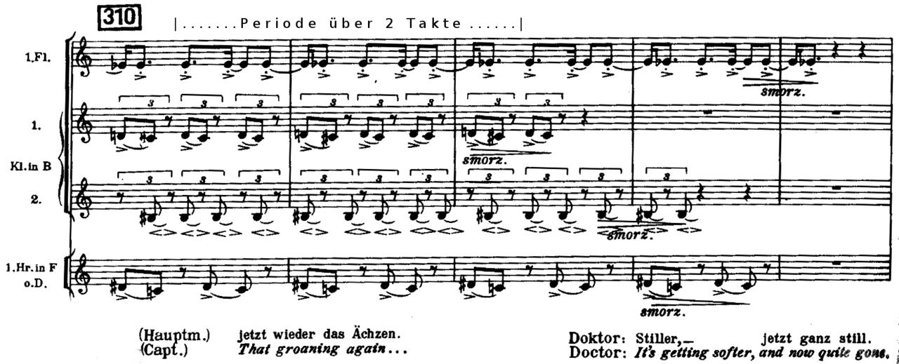 هارمونی در نت آهنگ قسمتی از پرده سوم اپرای وتزک اثر
